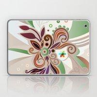 Floral curves Laptop & iPad Skin