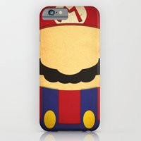 iPhone & iPod Case featuring Minimal Mario by Shawn P Cowan