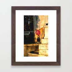 The Pink Balloon Framed Art Print