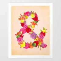 Flower Ampersand Art Print