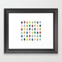 Arrows Up And Down Framed Art Print