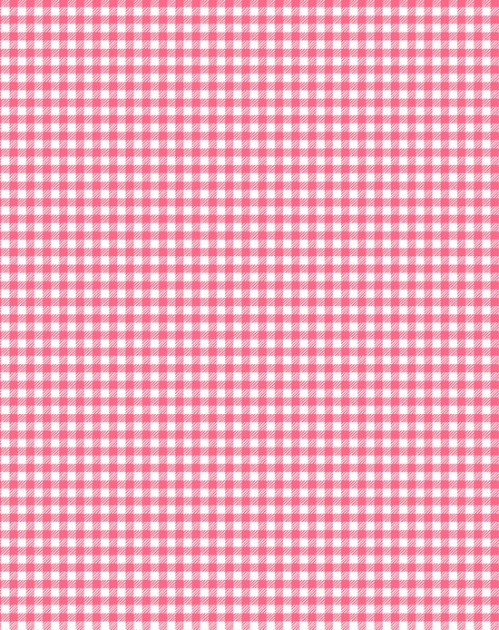 Picnic Pals gingham in strawberry Art Print