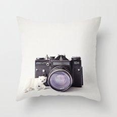 The Polar Bear and The Zenit Throw Pillow