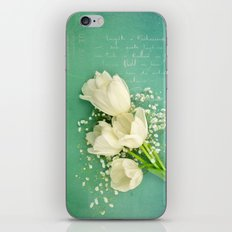French White Tulips and Baby's Breath Flowers Bouquet Spring Botanical 2015 iPhone & iPod Skin
