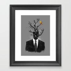 brave little bird Framed Art Print