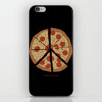 PEACE-A-PIZZA iPhone & iPod Skin
