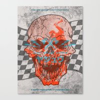 Death Valley Racers Motorcycle Club Canvas Print
