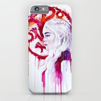 iPhone Cases featuring Daenerys Targaryen - game of thrones 4 by Slaveika Aladjova