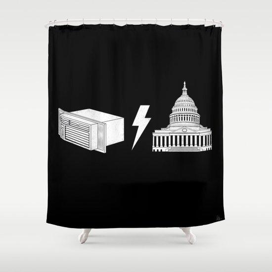Literal AC/DC Shower Curtain