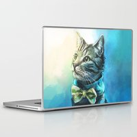 cats Laptop & iPad Skins featuring Handsome Cat by Alice X. Zhang