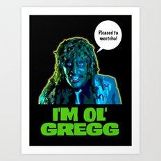 Old Gregg Art Print