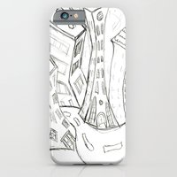 """iPhone & iPod Case featuring """"Sketchy City Streets"""" by Holly Lynn Clark"""