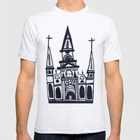 I Heart St. Louis Cathedral  Mens Fitted Tee Ash Grey SMALL