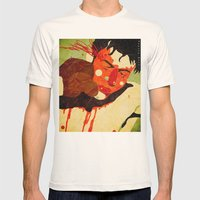 Raging Bull Mens Fitted Tee Natural SMALL