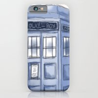 iPhone & iPod Case featuring TARDIS by Portia Alice