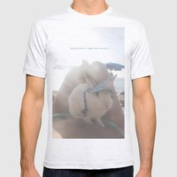 Oliver at the beach Mens Fitted Tee Ash Grey SMALL