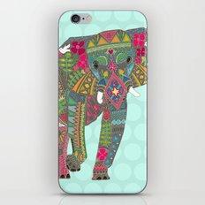 painted elephant aqua spot iPhone & iPod Skin
