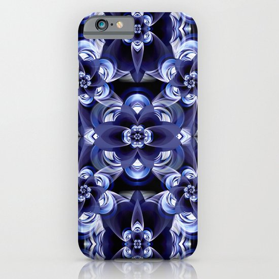 Flower print darkblue iPhone & iPod Case