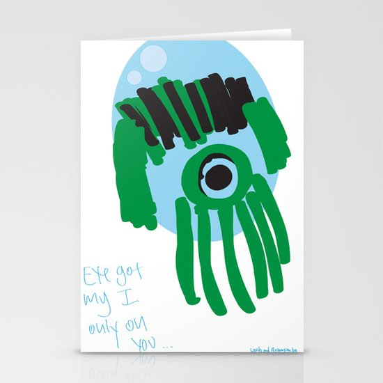 my eye is only on you [SQUID] [EYE]  Stationery Card