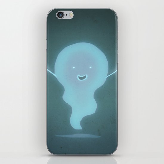 Happy Ghost iPhone & iPod Skin