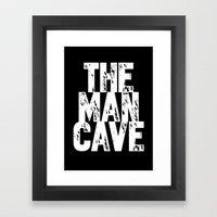 The Man Cave - Inverse Framed Art Print