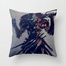 Triblade Throw Pillow