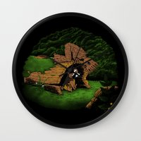 The Tree and the Raccoon Wall Clock