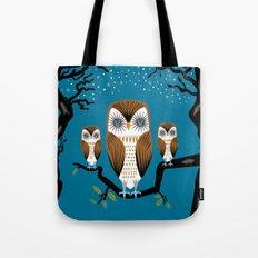 Three Lazy Owls Tote Bag