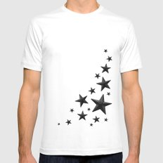 urban stellar SMALL White Mens Fitted Tee