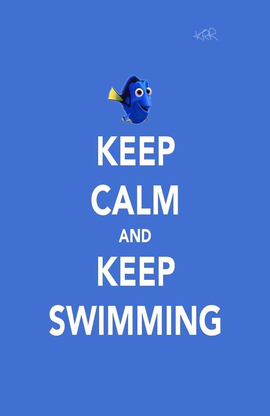 Keep Calm And Keep Swimming Art Print