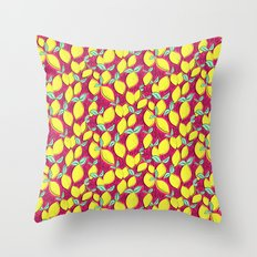 Lemon and pink Throw Pillow