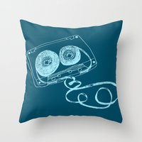 Oldschool Blues Mixtape Throw Pillow