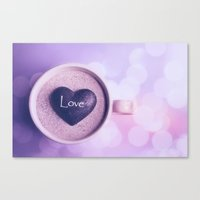 A cup of love Canvas Print
