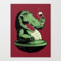 Party Croc Canvas Print