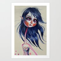 Elfving Study :: Blue Art Print