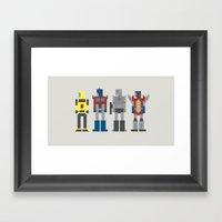 Transformers 8-Bit Framed Art Print
