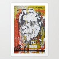 Skull Sanders Distress Art Print
