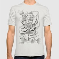 The Thinker Mens Fitted Tee Silver SMALL
