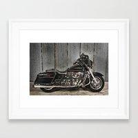 Black Harley Street Glide Framed Art Print