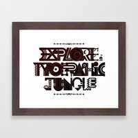 Explore The Typographic Jungle Framed Art Print