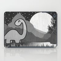 Dinosaur at midnight iPad Case