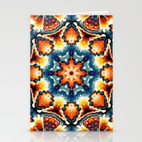 Colorful Concentric Motif Stationery Cards
