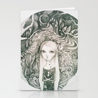 keyhole in the jungle Stationery Cards