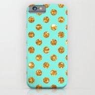 Chic Gold Glitter Polka … iPhone 6 Slim Case