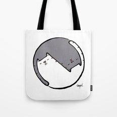 yin yang cat BW Tote Bag