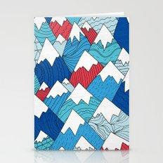 Mountain Pattern 2.0  Stationery Cards