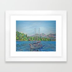 The Murralet At Winter Harbour Framed Art Print