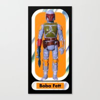 Boba Fett Beach Towel : Smaller Canvas Print