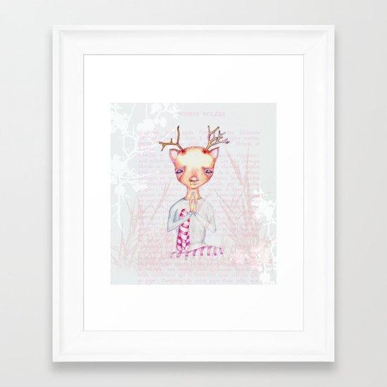 Springtime in antarctica Framed Art Print