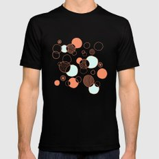 Coral Bubbles (with a hint of mint) Mens Fitted Tee Black SMALL